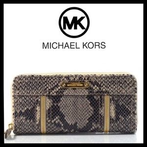 Michael Kors Moxley Continental Wallet Leather